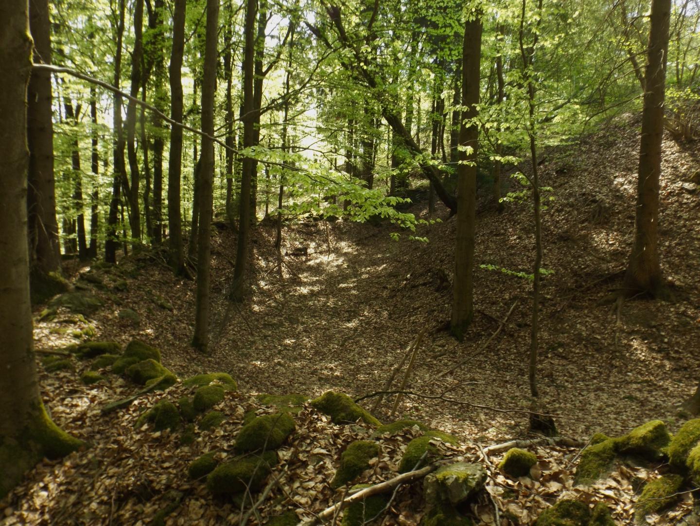 Burggraben und äußerer Wall
