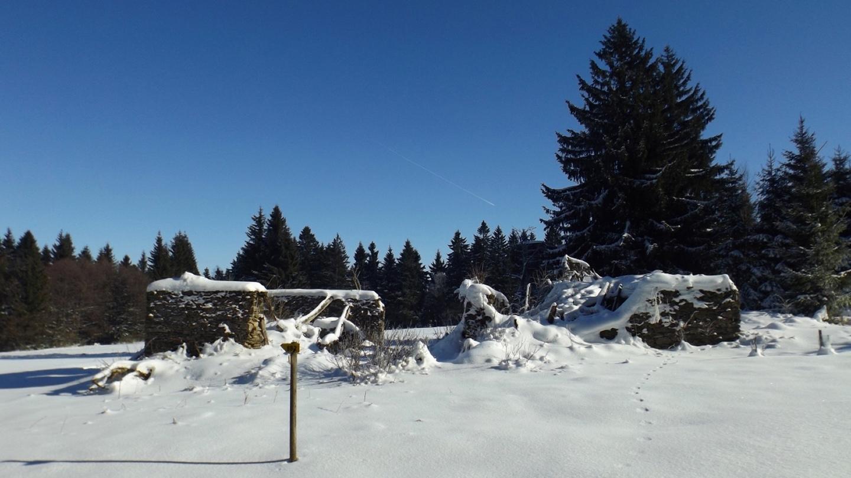 Verschneite Ruine