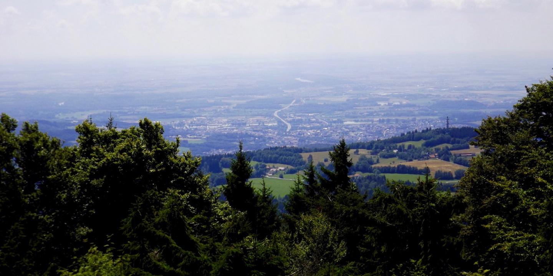 Ausblick auf Deggendorf und bei guter Sicht weit darüber hinaus