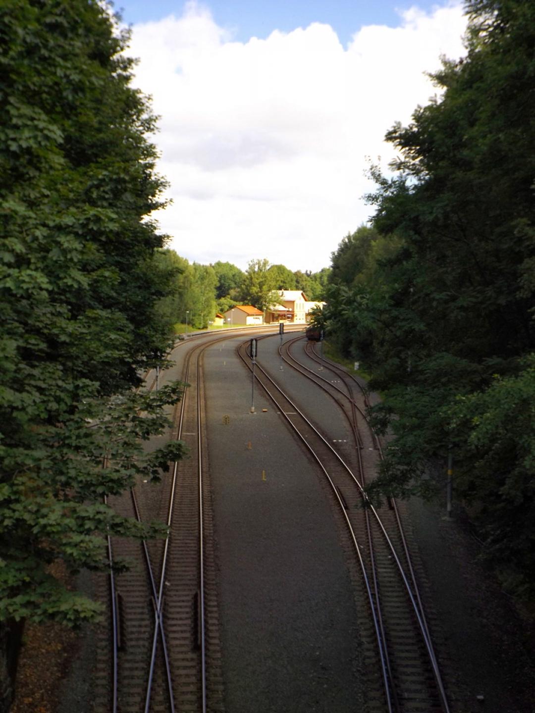 Kleines Dorf, großer Bahnhof: In Česká Kubice war zu Zeiten des Eisernen Vorhangs Grenzstation