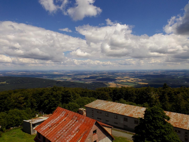 Panorama Richtung Plzeň mit herrlicher Wolkenstimmung