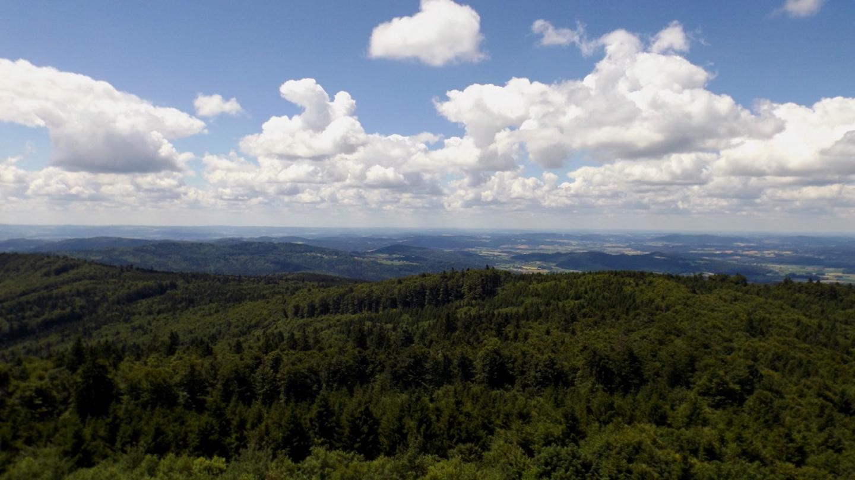 Klammerfels, Herzogau und der Perlsee, Waldmünchen versteckt sich hinter dem Kramberg
