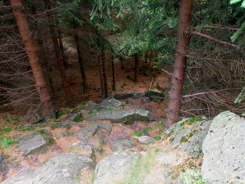 Der Direktaufstieg zum Felsen