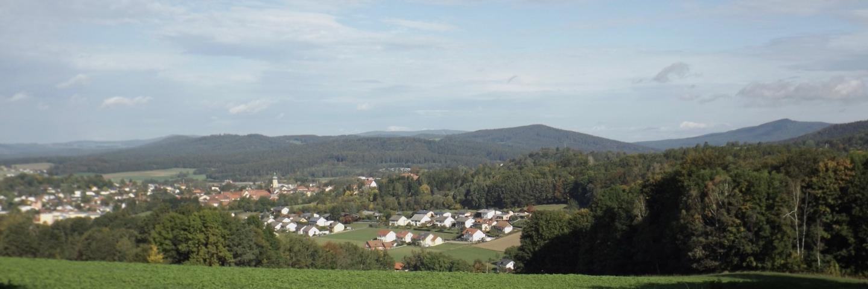 Waldmünchen mit dem Tal der böhmischen Schwarzach