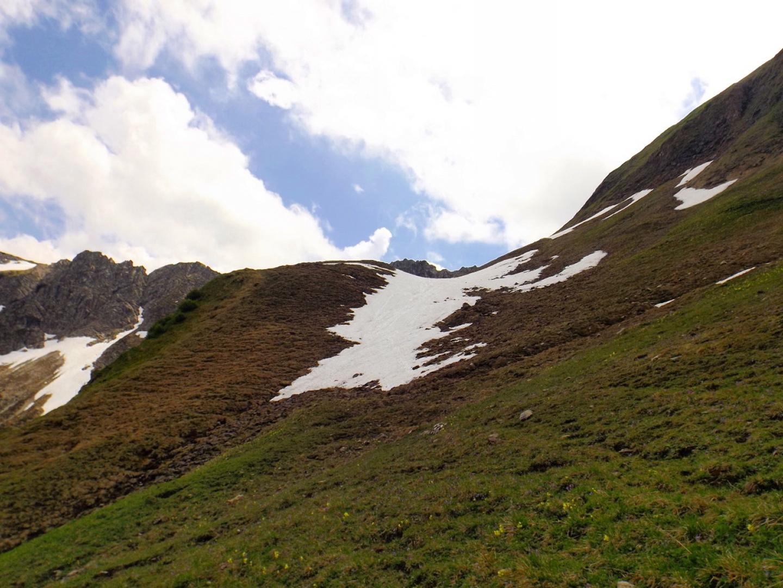 Dieses Schneefeld war noch halbwegs umgehbar