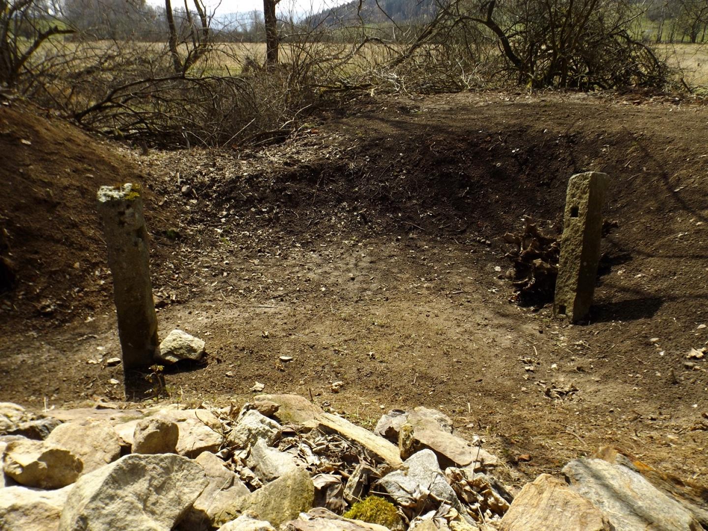 Überreste eines Gartenzauns
