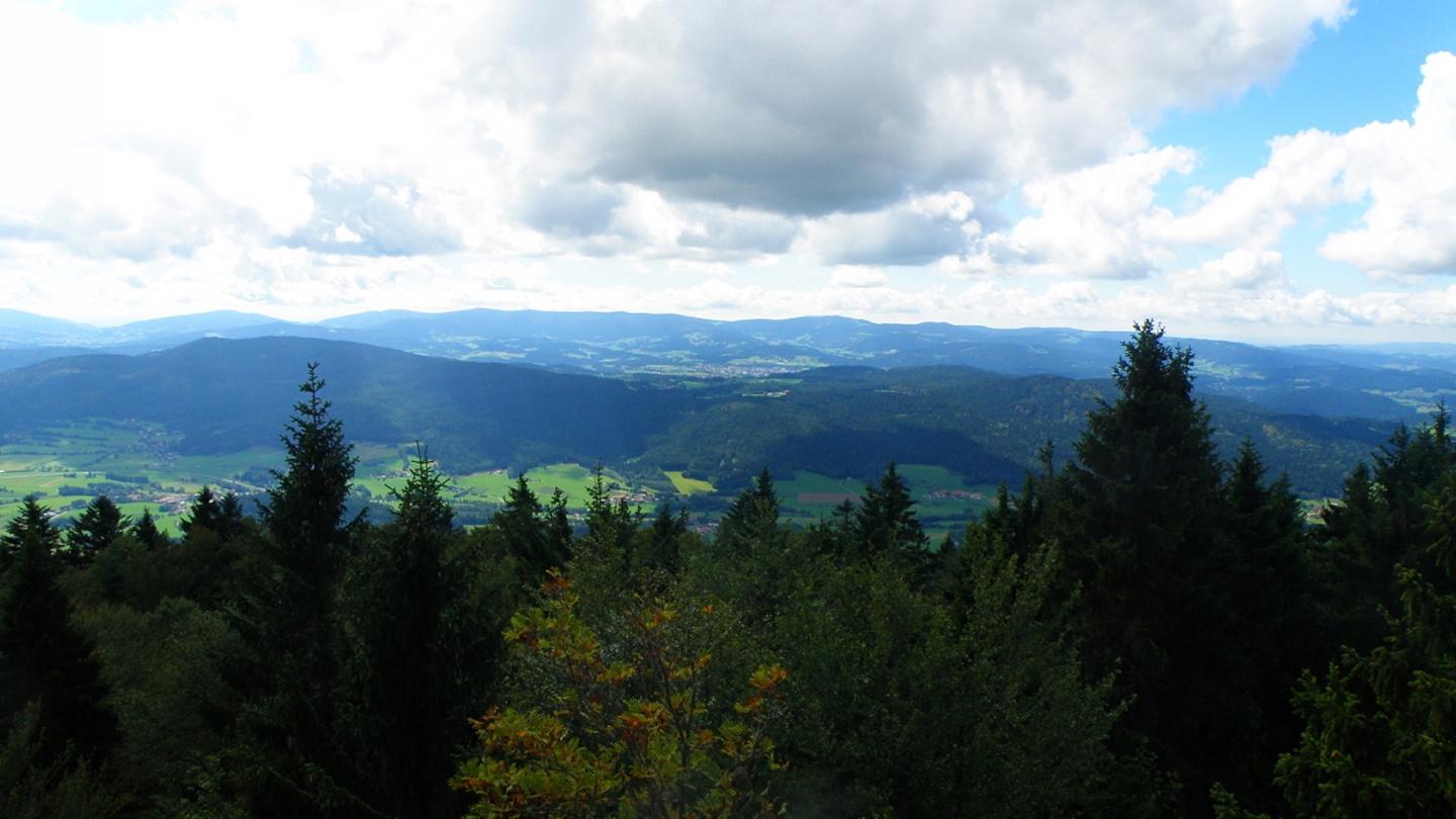 Pröller, Predigtstuhl und Viechtach, vorne links Arnbruck