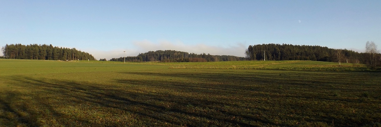 In Böhmen stören uns die Wolken heute nicht