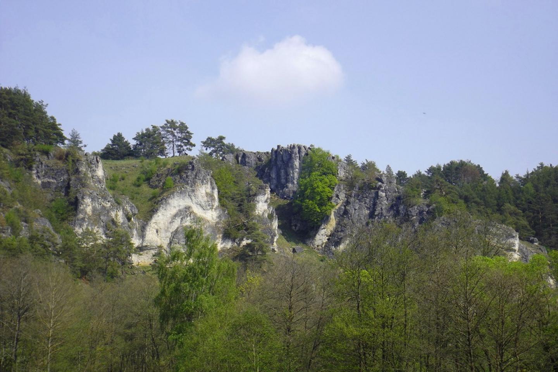 Klettergebiet voraus