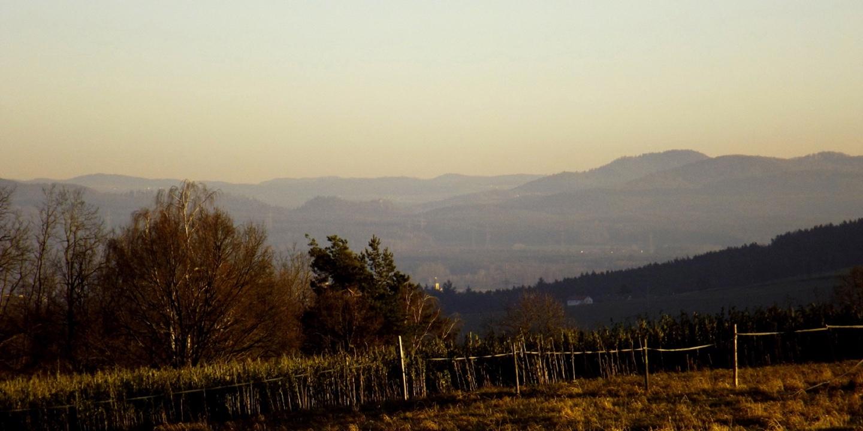 Auch im Südosten waren die Hügel des Vorwaldes sehr gut erkennbar