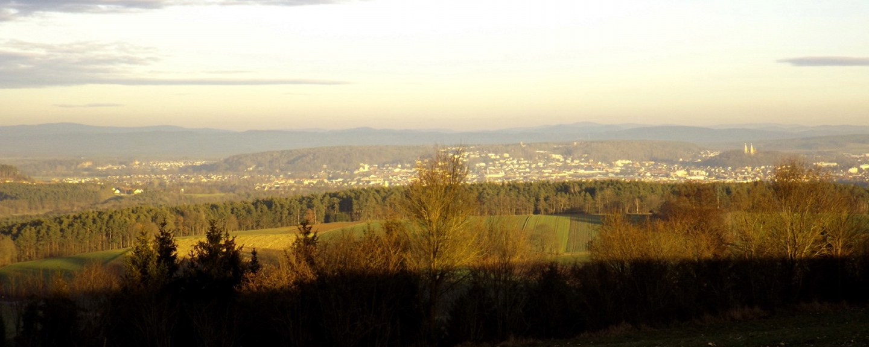 Schwandorf vor dem Oberpfälzer Wald