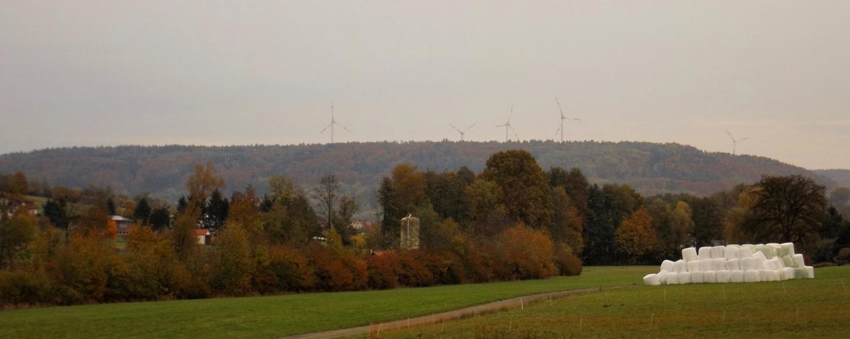 Die Windräder an der A6