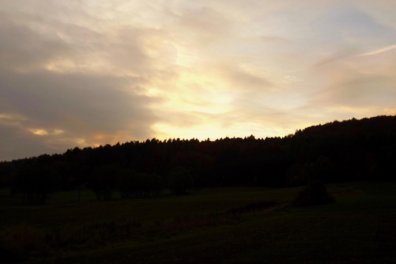 Zum Sonnenuntergang reißt es wieder auf