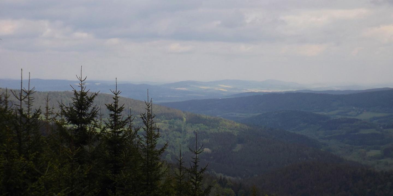 Aussicht auf die Švihovská vrchovina