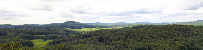 Westpanorama am Höhenglücksteig