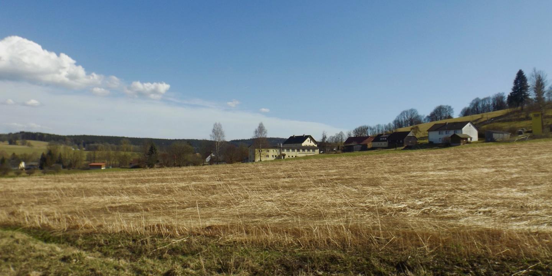 Ankunft im Dorf Schwarzach