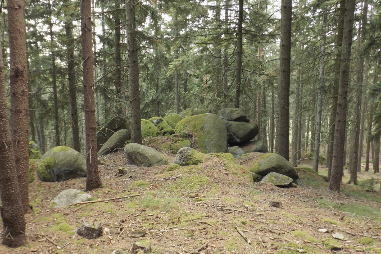 Noch eine grandiose Felsformation im Abstieg