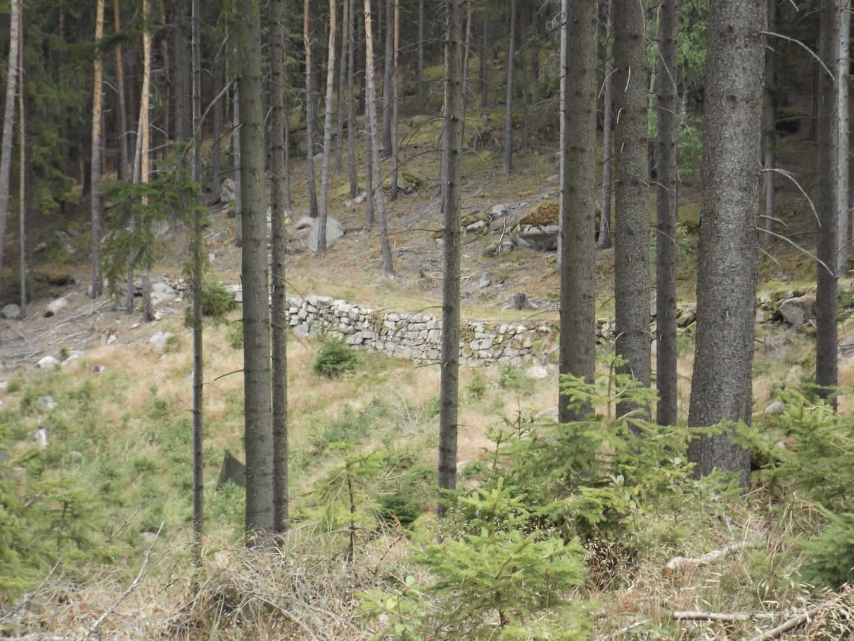 Nein, keine mittelalterliche Burgmauer, sondern nur eine Wegbefestigung