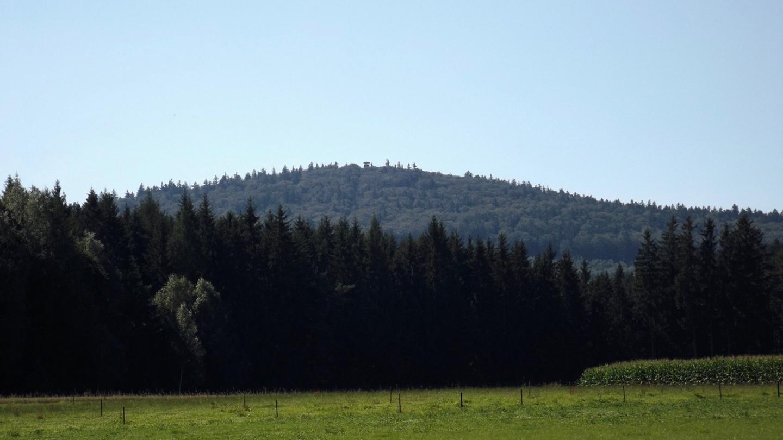 Erster fototauglicher Blick auf das Gipfelziel