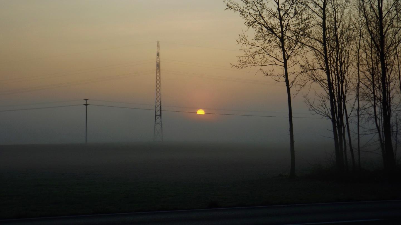 Sonnenaufgang hinter dem Gibacht