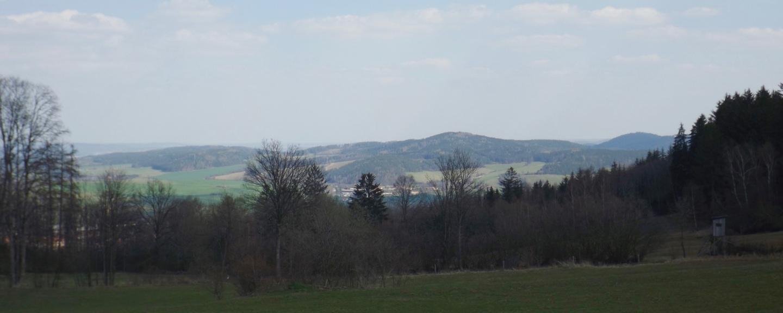 Panorama Richtung Javorná