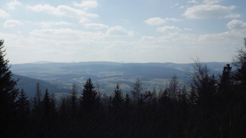 Viel schlechter war die Aussicht Richtung Poledník von unten auch nicht