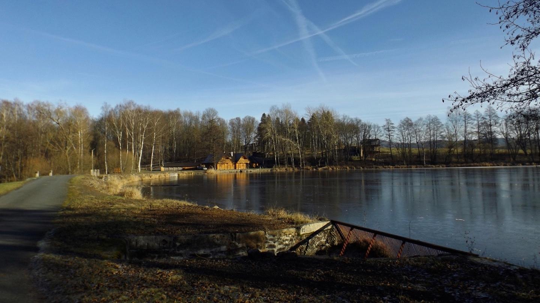 Blockhütten am Železný rybník