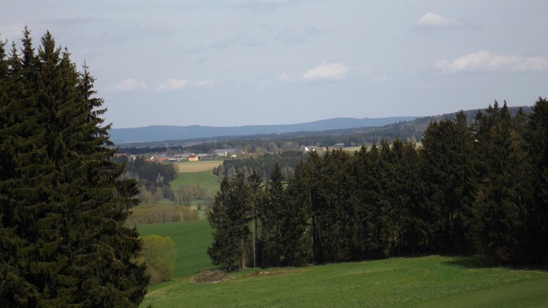 In Natura war der Funkurm auf dem Dyleň deutlicher zu erkennen